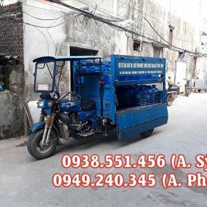 Xe ba gác chở bình nước lọc là dòng xe 3 bánh chở hàng tiện dụng với thiết kế hiện đại nhất hiện nay