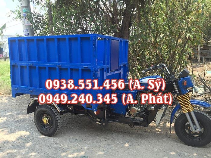 Xe ba bánh chở rác thải, rác sinh hoạt