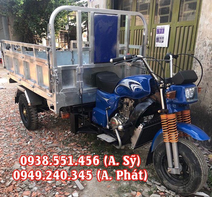 Xe ba bánh thùng inox chở hàng chính hãng, chất lượng