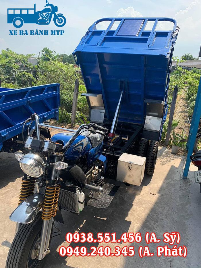 Xe ba gác có ben giúp tối ưu sức lao động khi cần bốc dỡ hàng