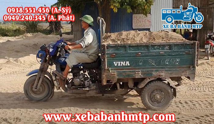 Xe ba gác chở được từ 1 khối đến 1.5 khối cát