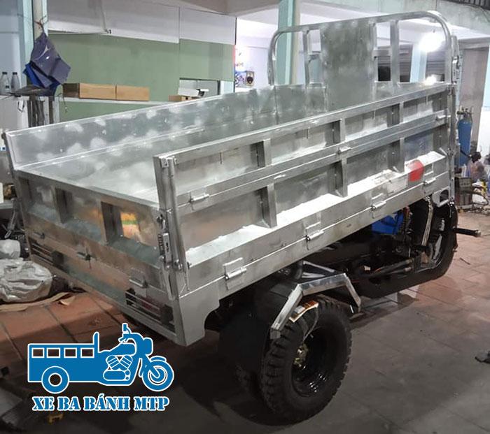 Thùng xe ba gác làm bằng Inox