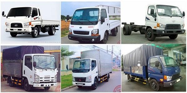 Các loại xe tải chở hàng phổ biến hiện nay trên thị trường
